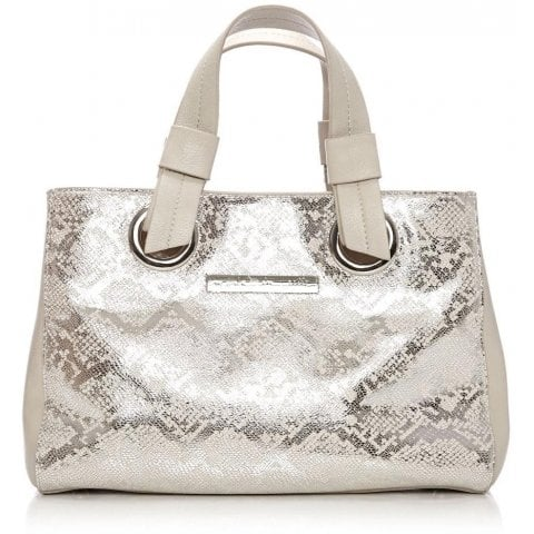 Renniebag Nude Silver Metallic Leather