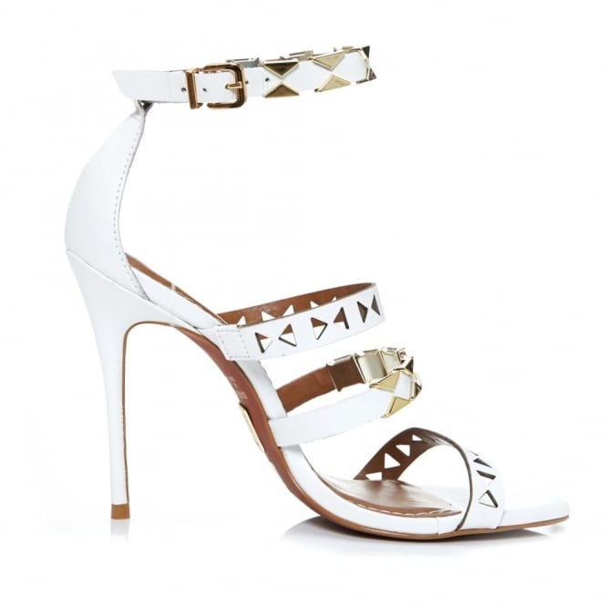 Ricci White Leather