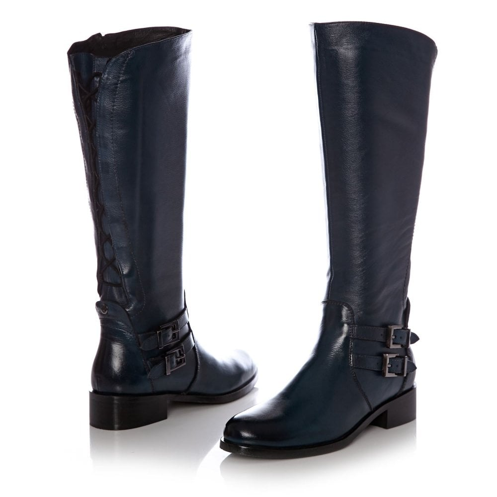 Salomone Navy Leather - Boots from Moda