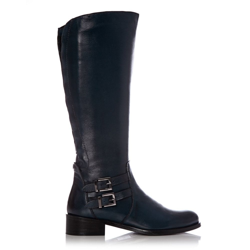 52641a137aec Salomone Navy Leather - Boots from Moda in Pelle UK