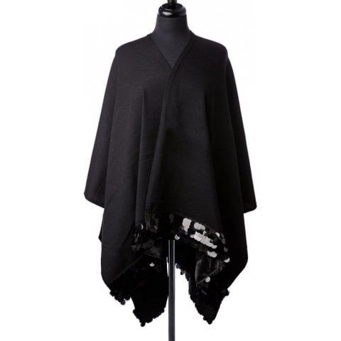 Sicillaponcho Black Fabric