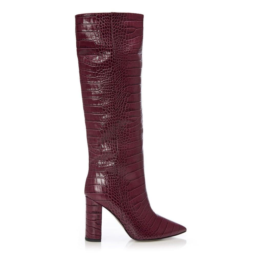 Standing Burgundy Mocc Croc - Boots