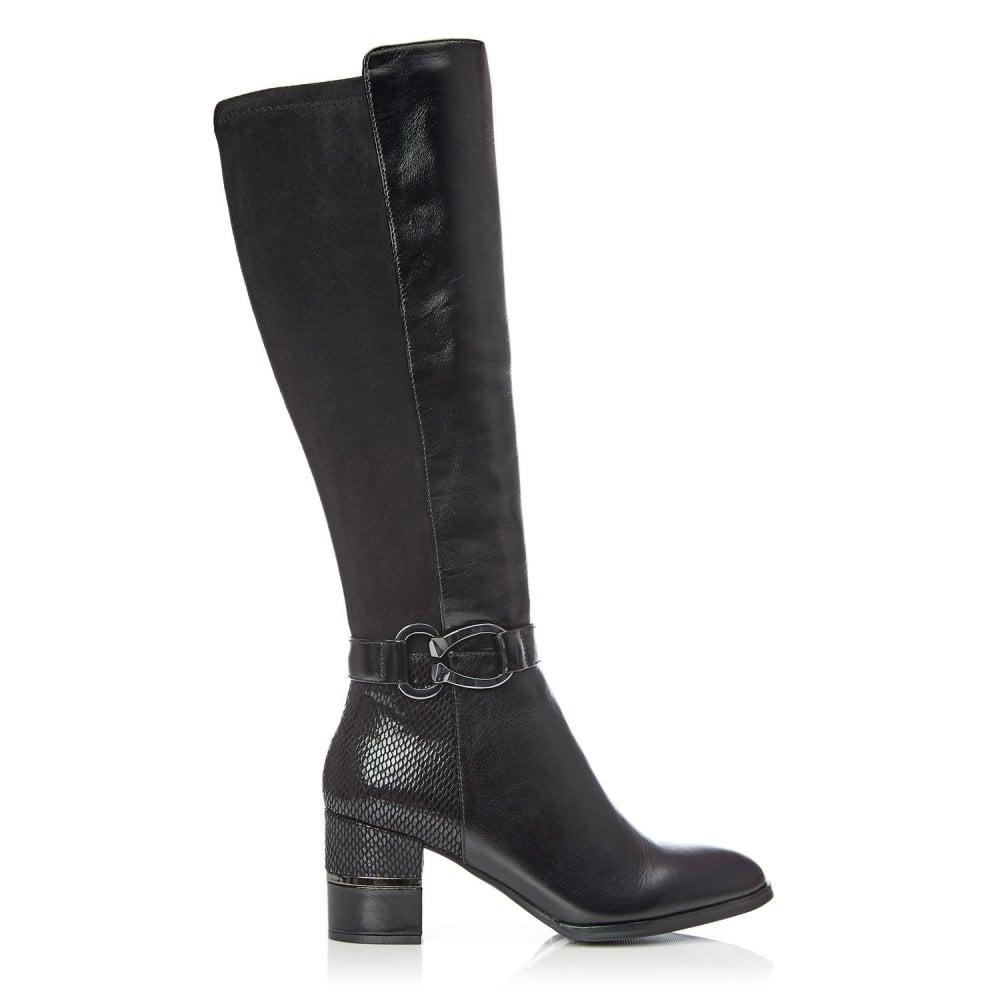 Taloola Black Leather - Boots from Moda